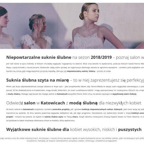 Projektowanie sukien ślubnych - Katowice