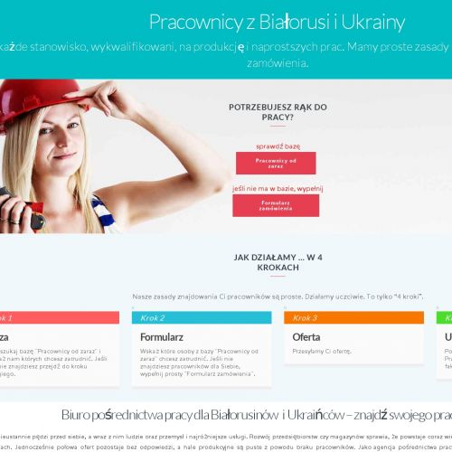 Niewykwalifikowany pracownik z Białorusi