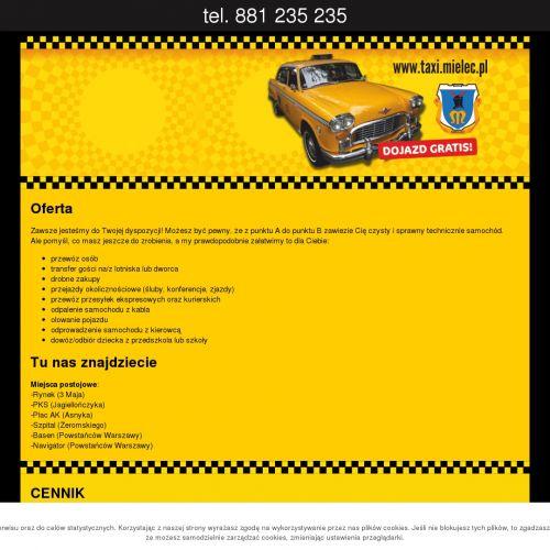 Taxi z Mielca