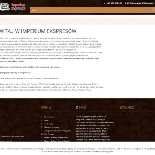 Serwis ekspresów do kawy - Warszawa