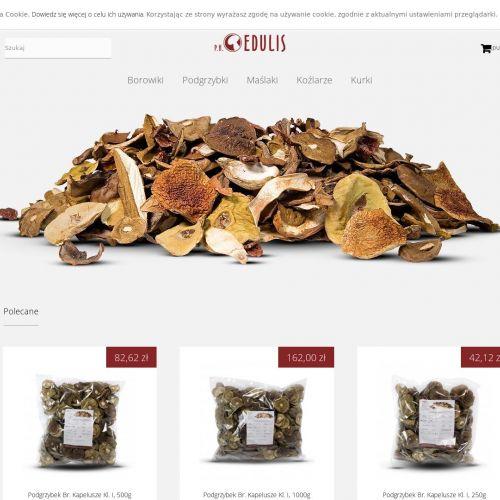Sklep internetowy z suszonymi grzybami