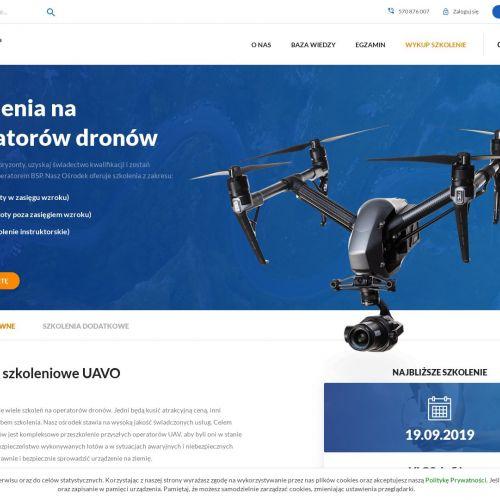 Uprawnienie UAVO na operowanie dronem