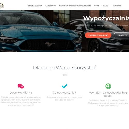 Wypożyczalnia luksusowych aut – Warszawa