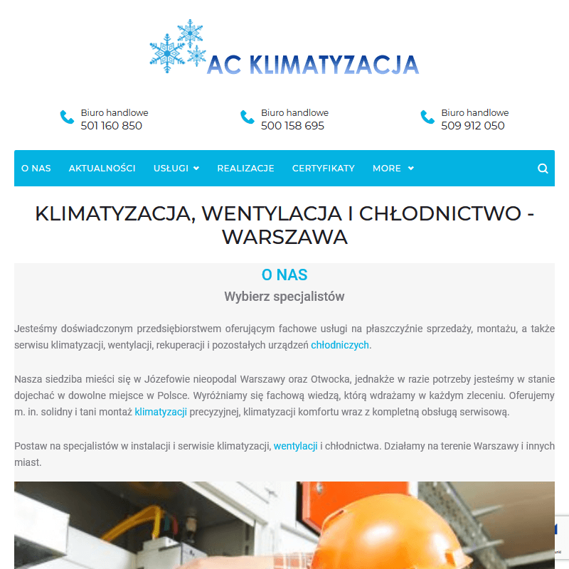 Serwis klimatyzacji w Warszawie