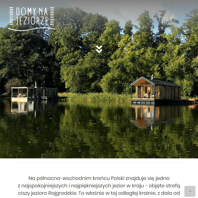 Domy na wodzie z widokiem na jezioro