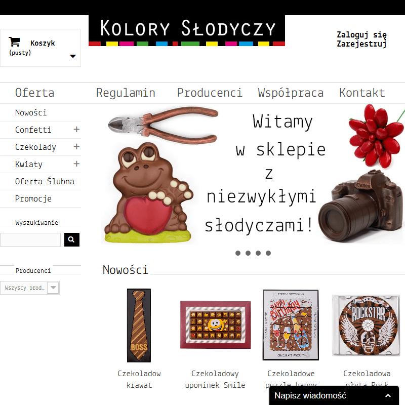 Kwiaty z czekolady