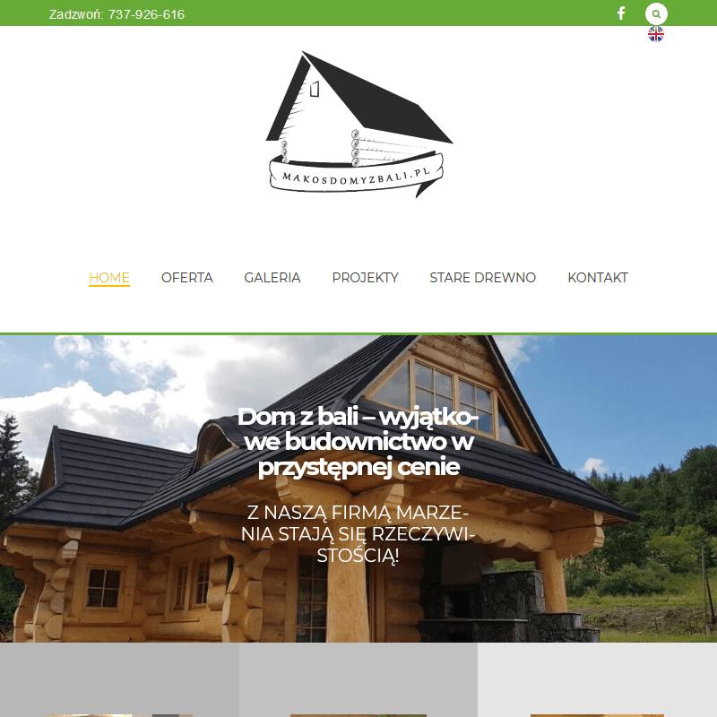 Producent drewnianych domów z bali