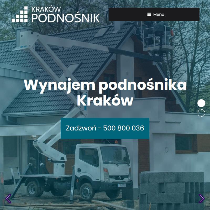 Wynajem podnośników - Kraków