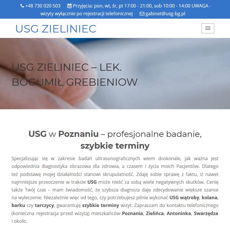 USG jamy brzusznej - Poznań